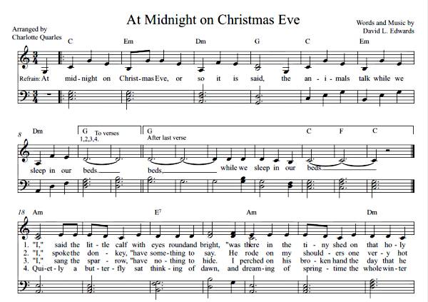 At Midnight on Christmas Eve  (Sheet Music)