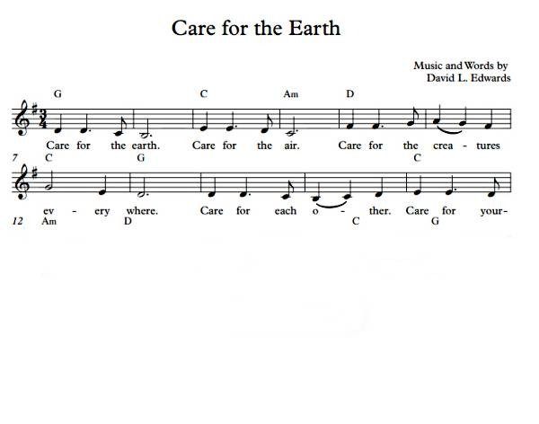 Care for the Earth  (Sheet Music: Melody)