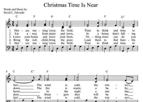 Christmas Time Is Near  (Sheet Music)