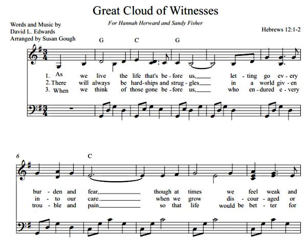 Great Cloud of Witnesses  (Sheet Music)