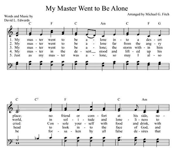 My Master Went to Be Alone  (sheet music)