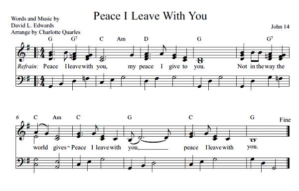 Peace I Leave with You  (Sheet Music)