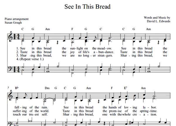 See in This Bread  (Sheet Music)