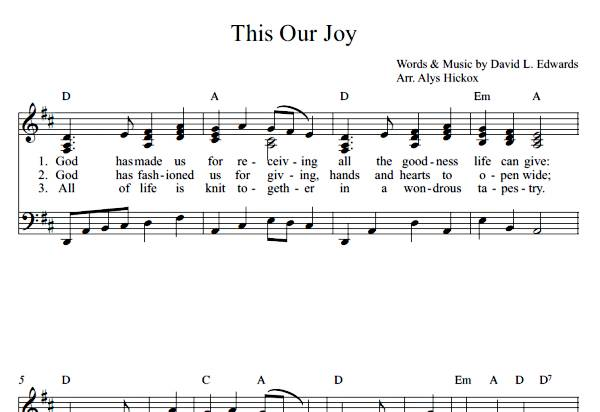 This Our Joy  (Sheet Music)